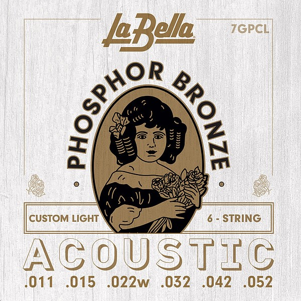 La Bella - 7GPCL phosphor bron cust light