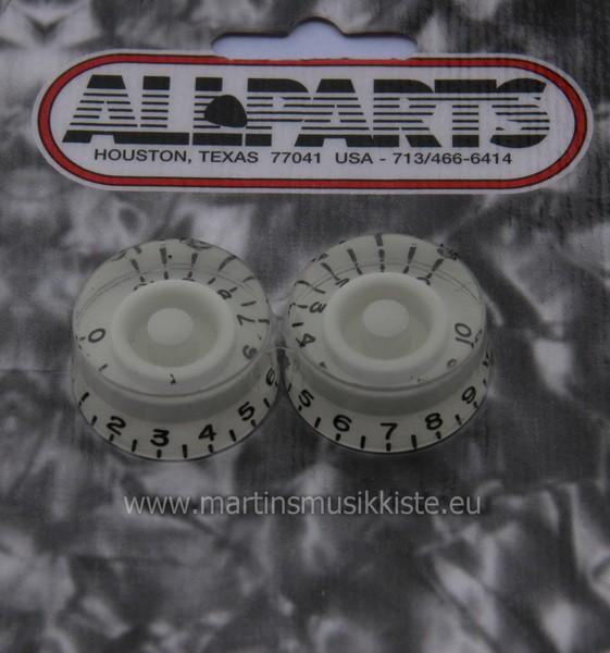 Allparts - PK0130025LP Knöpfe speed weiß