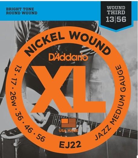 DAddario - EJ22 Jazz medium nickel wound
