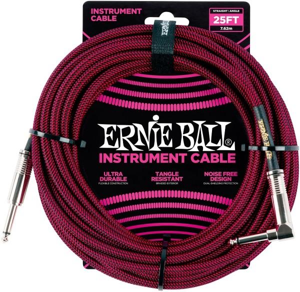 Ernie Ball - EB6062 K-WK 7,62m schwarz rot