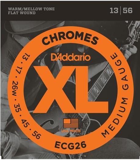 DAddario - ECG26 Chromes Flatwound 13