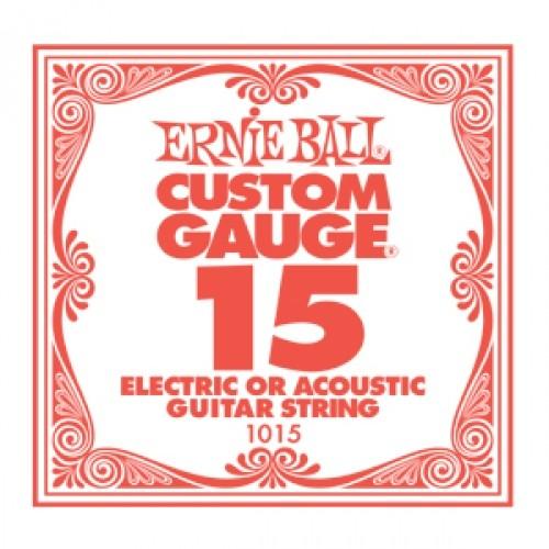 Ernie Ball - EB1015 015 plain Einzelsaite