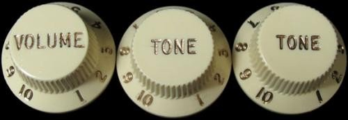 Guitar Knobs Aged White Strat