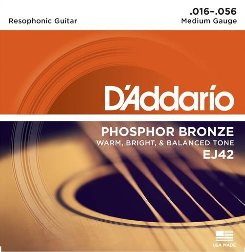 DAddario - EJ42 Resophonic Phosphor Bronz