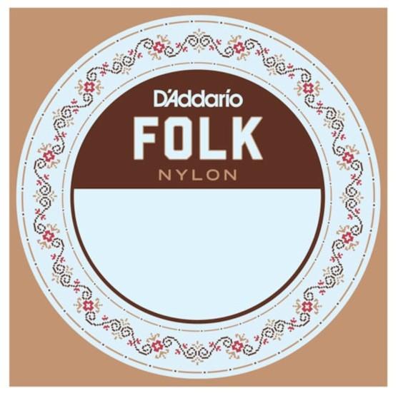DAddario - BES045W E6 Nylon mit Ballend