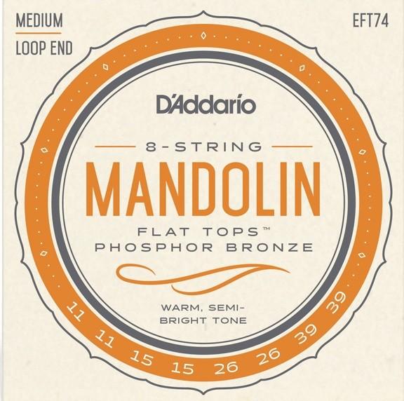 DAddario - EFT74 Mandolin Flat Tops 11-39