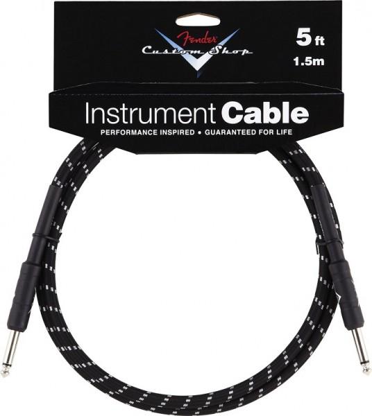 Fender - Custom Shop Kabel 1,5m Blacktw