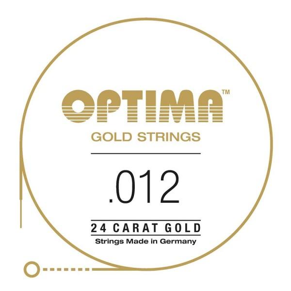 Optima - Gold Einzelsaite 012 plain