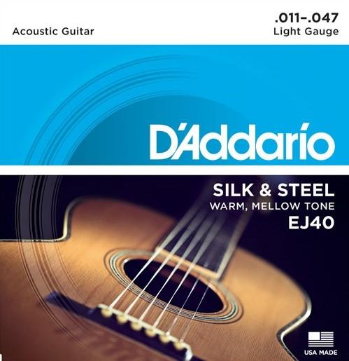 DAddario - EJ40 Silk Steel 11-47