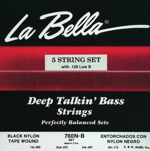 La Bella - 760NB 5S LOW B Black Nylon