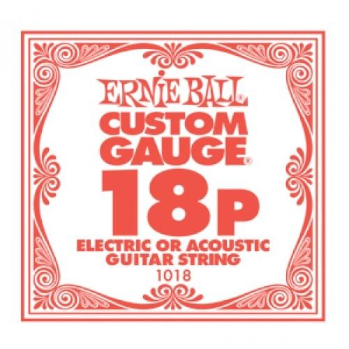 Ernie Ball - EB1018 018 plain Einzelsaite
