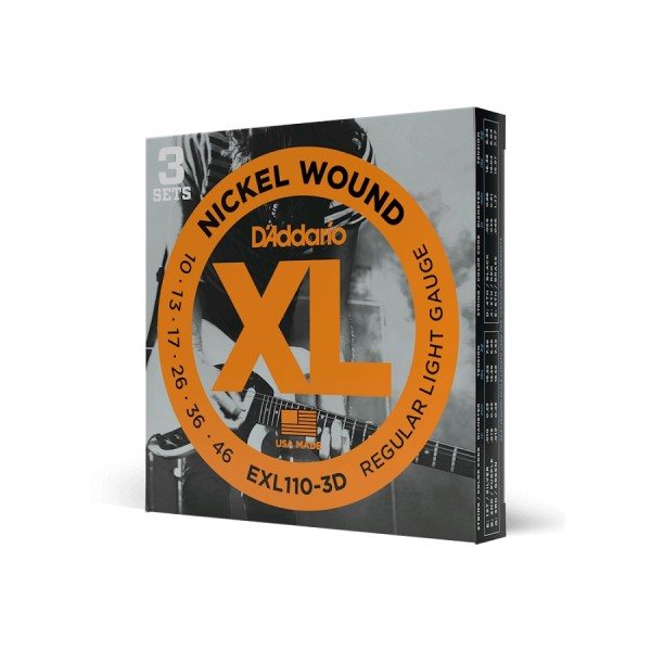 DAddario - EXL110-3D Nickel Wound Regular