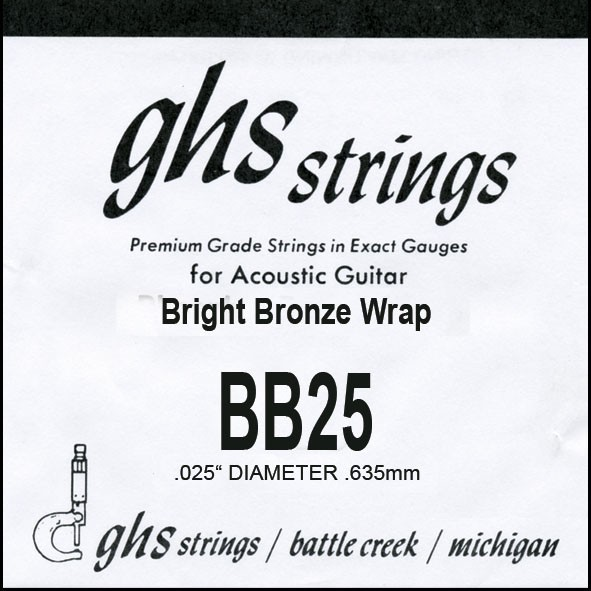 GHS - BB25 Bright Bronze 025 wound