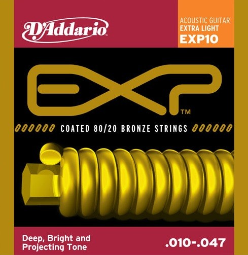 DAddario - EXP10 Coated Extralight Bronze
