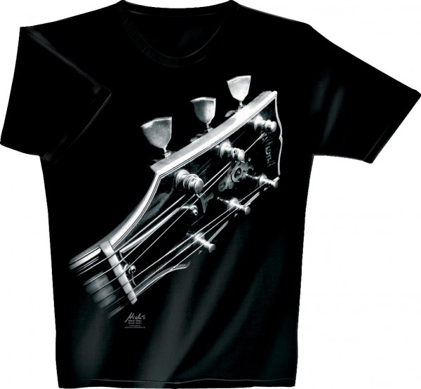 Rock You - T-Shirt Cosmic Guitar L black