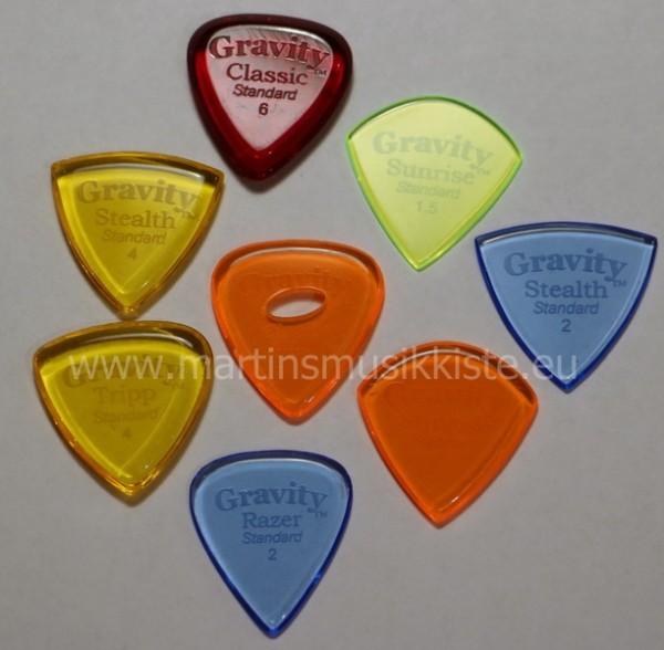 Gravity Guitar Picks - Standard Variety TickP 8 Stück