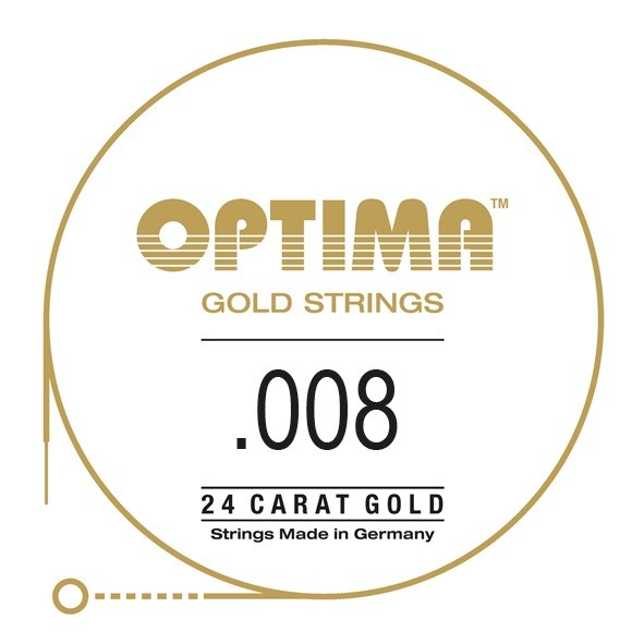 Optima - Gold Einzelsaite 008 plain