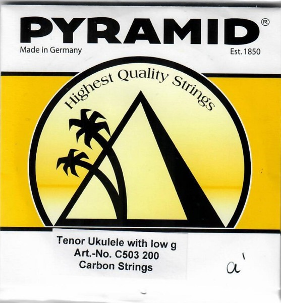 Pyramid - C503200 Carbon low G Tenor Uke