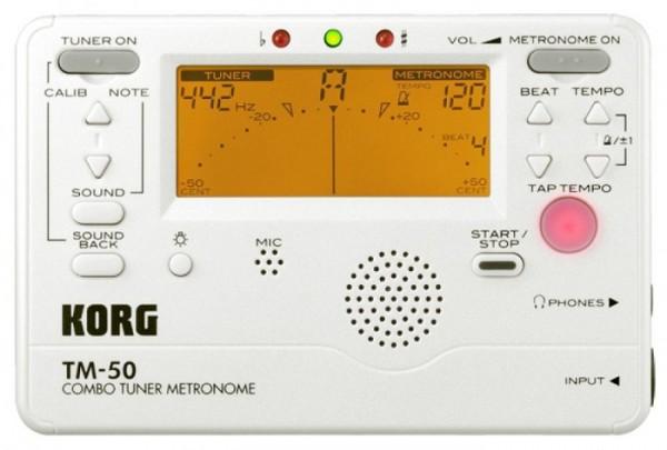 Korg - TM-50PW Tuner/Metronom pearl
