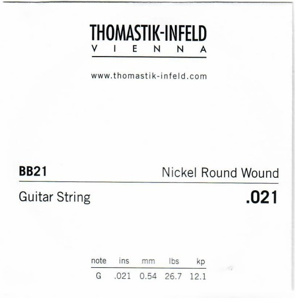 Thomastik - BB21 Nickel Round Wound 021w