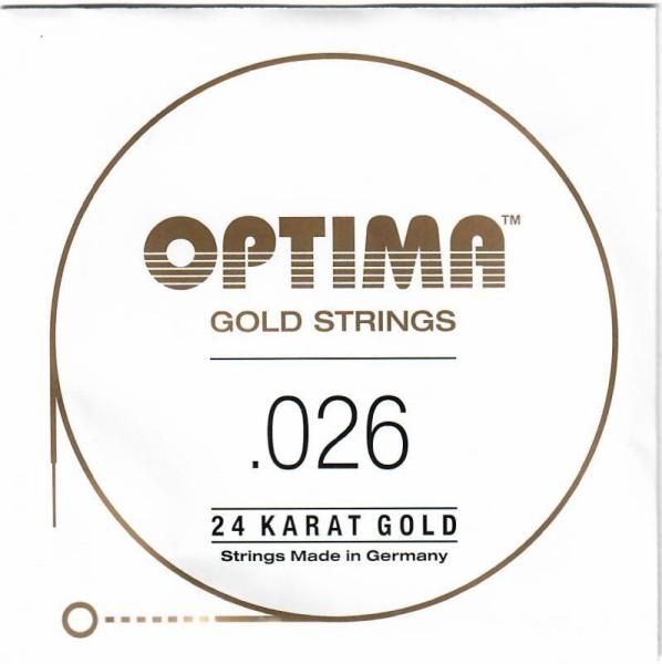 Optima - Gold Einzelsaite 026 wound