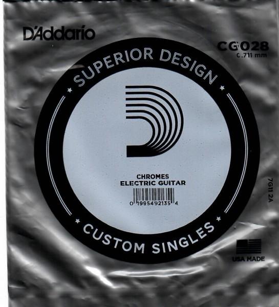 DAddario - CG028 flatwound ES Chromes