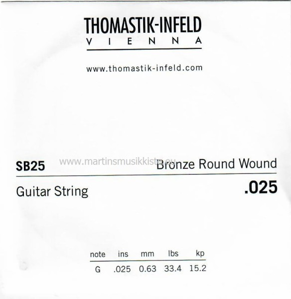 Thomastik - SB25 025W Bronze wound