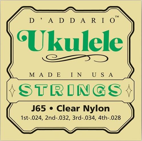 J65 Ukulele clear nylon