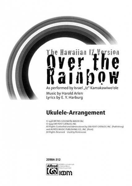 Alfred - 20984312 Over The Rainbow Uke