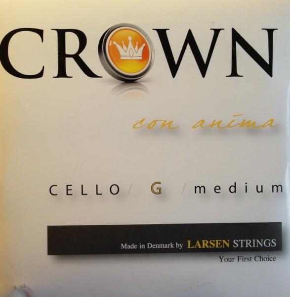 CROWNbyLARSEN - Cello Medium G 4/4 Chromstahl