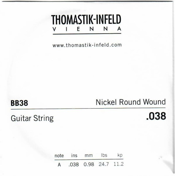 BB38 Nickel Round Wound 038w