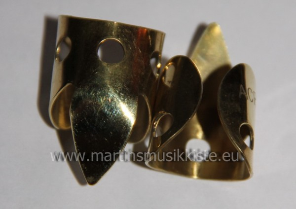 Fingerpick Brass pointed 2er