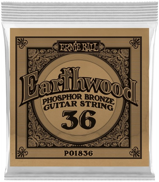 Ernie Ball - EB1836 Earthwood PhoBro 6 Stk