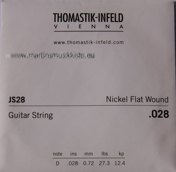 JS28 Nickel Flatwound 028w