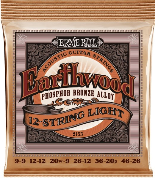 Ernie Ball - EB2153 Earthwood PB 9-46