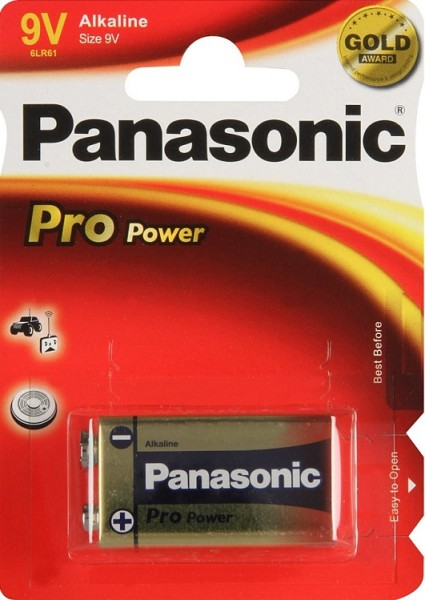 Panasonic - 6LR61-9v Pro Power 9-V Block