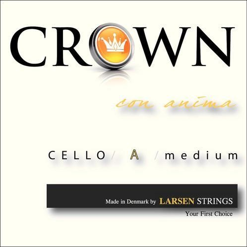 CROWNbyLARSEN - Cello Medium A 4/4 Chromstahl