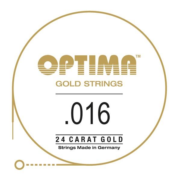 Optima - Gold Einzelsaite 016 plain