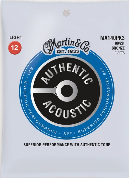 MA140PK3 Bronze 80/20 Light