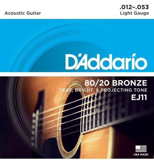 DAddario - EJ11  Bronze light