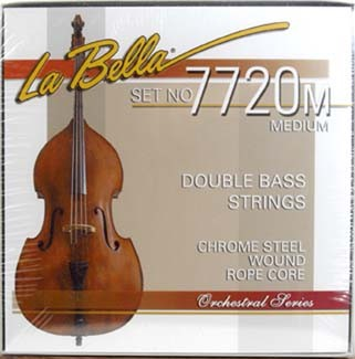 La Bella - 7720M chrome steel flatwound