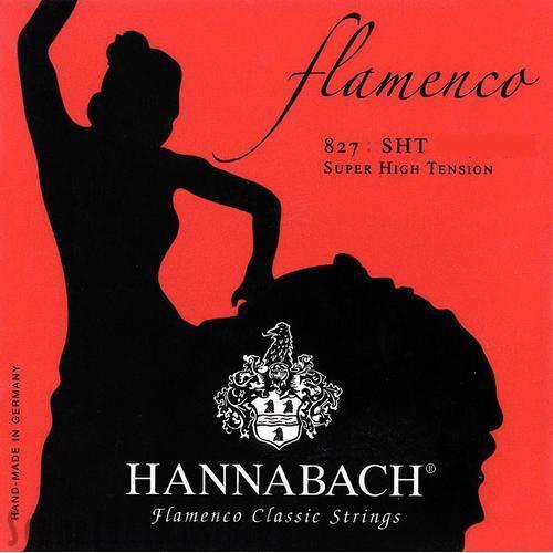 Hannabach - 827SHT Flamenco extrahart rot