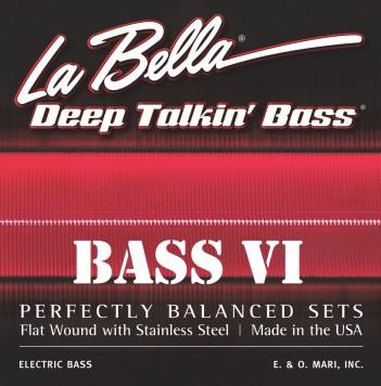 La Bella - 7676B BlackNylon für Fender VI