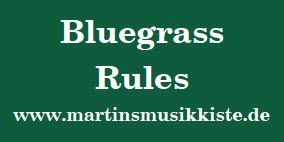 MartinsMusikKiste - Bluegrass Rules Aufkleber