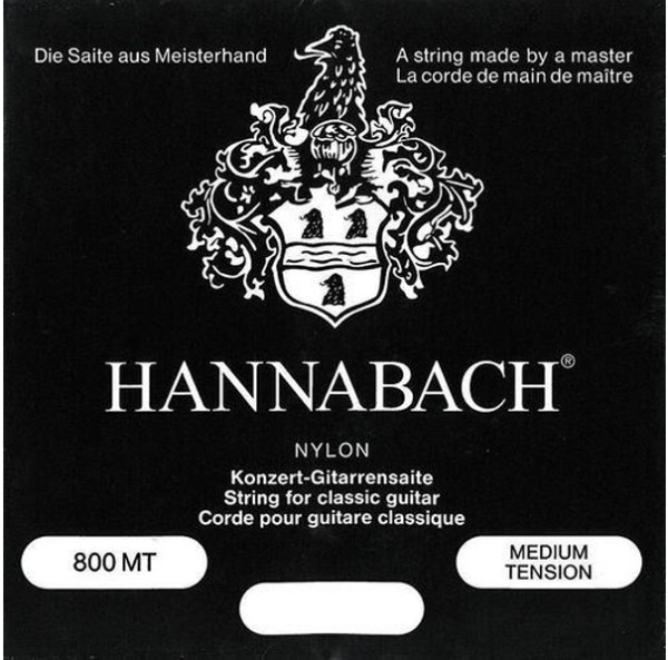 Hannabach - 800MT schwarz medium tension