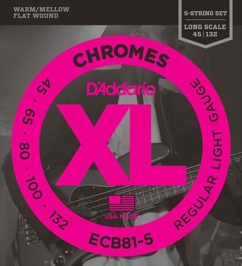 DAddario - ECB81-5 Chromes Flatwound