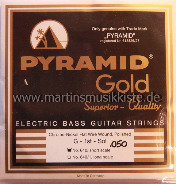 Pyramid - Flatwound Short Scale 50-110