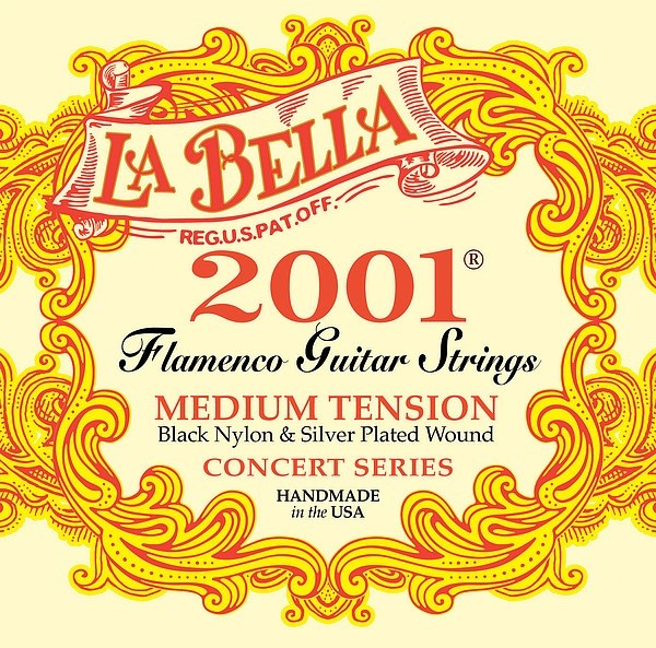 La Bella - 2001FM Flamenco MT Black Nylon