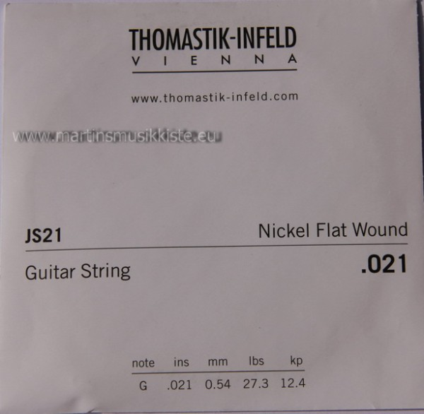 JS21 Nickel Flatwound 021w