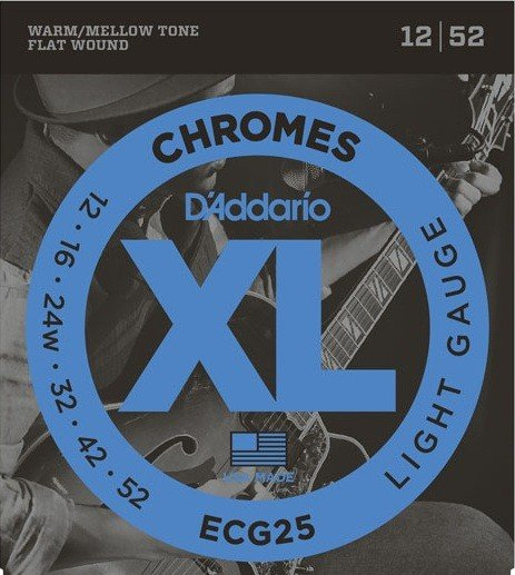 DAddario - ECG25 Chromes Flatwound 12